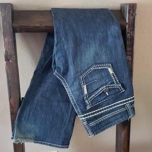 BKE Buckle Addison Dark Wash 30 Long Jeans